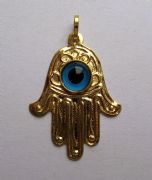 9ct Gold Evil eye Hamsa pendant 1g